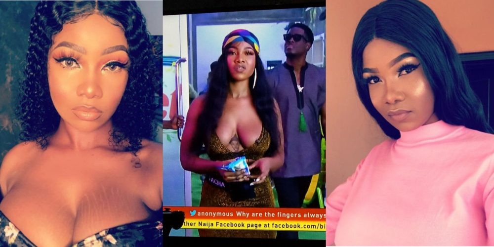"#BBNaija: ""I am happy tonight"" – Tacha says after Big Brother dropped nomination bombshell (video)"