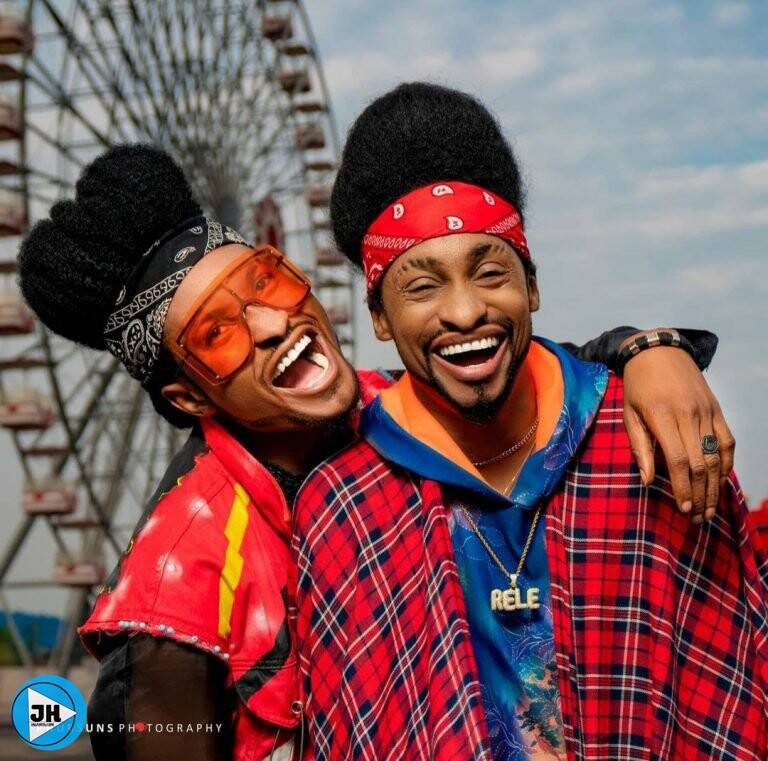 """Time To Start Questioning Our Parents"" Denrele Declares As He Meets And Poses With His Lookalike (Photos)"